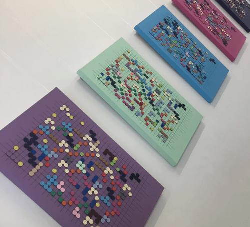 Image description: Braille artworks by artist Clarke Reynolds